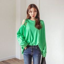 Seoul Fashion - Off-Shoulder T-Shirt