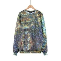 Momewear - Fleece-Lined Printed Pullover