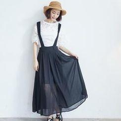 BAIMOMO - Suspender Maxi Chiffon Skirt