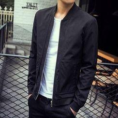 Evzen - Plain Stand Collar Jacket