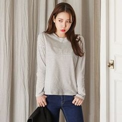 Seoul Fashion - Round-Neck Stripe T-Shirt