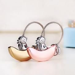 MILESI - Monkey Banana Keychain