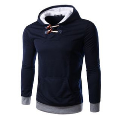 Bay Go Mall - Toggle Accent Hooded Pullover