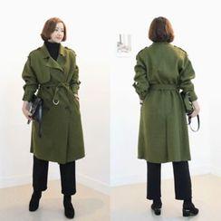 STYLEBYYAM - Double-Breasted Trench Coat