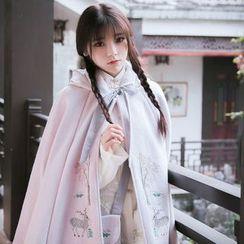 Jade Dragon - Woolen Coat / Blouse / Skirt / Crossbody Bag
