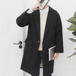 Bay Go Mall - Fleece-lined Wool Coat