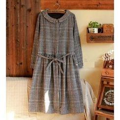 tete - 長袖格紋連衣裙