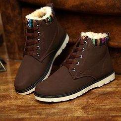 Preppy Boys - Fleece-Lined Ankle Boots