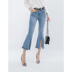 GUMZZI - Slit-Side Boot-Cut Jeans