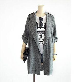 VIZZI - Marled Longline Coat