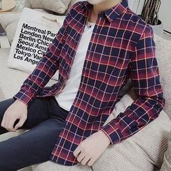 Chic Maison - Fleece-Lined Plaid Shirt