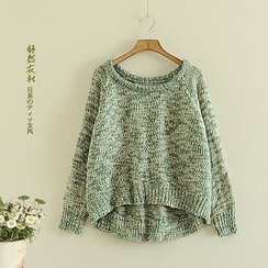 Storyland - Melange Cable-Knit Sweater