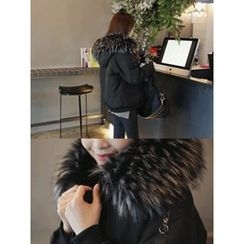 hellopeco - Faux-Fur Hooded Padded Jacket