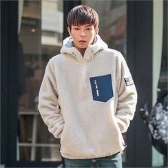Superstar.i - Hooded Zip-Neck Fleece Pullover