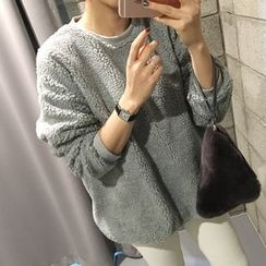 STYLEBYYAM - Brushed Fleece Lined Fleece Pullover