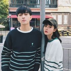 Simpair - Couple Matching Striped Sweater