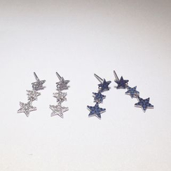 A'ROCH - 925 Sterling SilverRhinestone Star Drop Earrings