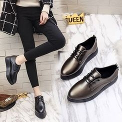 QQ Trend - Platform Pointy Oxfords