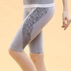 Lady Lily - Panel Quick Dry Capri Leggings