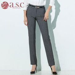 Aision - Slim-Fit Dress Pants