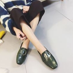 QQ Trend - Round Buckle Loafers