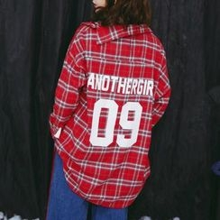 SUYISODA - Plaid Oversized Long Shirt