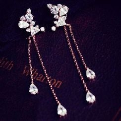 Nanazi Jewelry - Rhinestone Drop Earrings