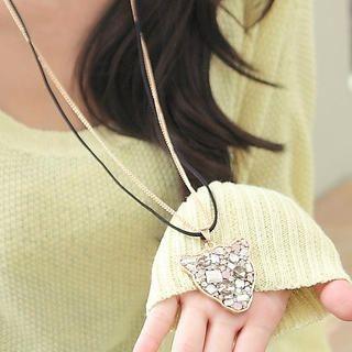 CatWorld - Rhinestone Cheetah Double Chain Necklace