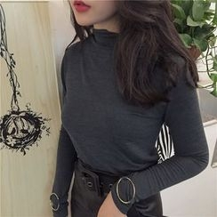Alfie - Hoop-Accent Turtleneck Top