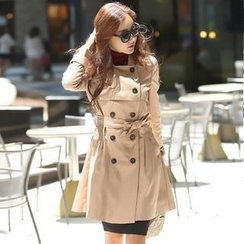 Styleonme - Double Breasted Trench Coat