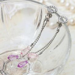 Fit-to-Kill - Purple tear drops Earrings