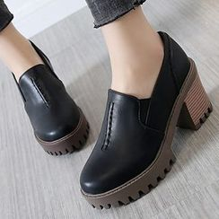 Sidewalk - Platform Block Heel Loafers