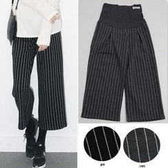 Shandie - Maternity Striped Cropped Pants