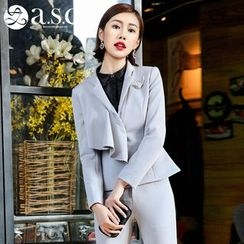 Aision - Ruffled Jacket / Shirt / Slim-Fit Pants
