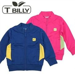 TWINSBILLY - Kids Contrast-Trim Zip Jacket