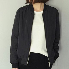 Fashion Street - Plain Bomber Jacket