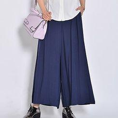 Yohana - Linen-blend Wide-leg Pants