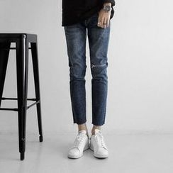 Seoul Homme - Washed Distressed Jeans