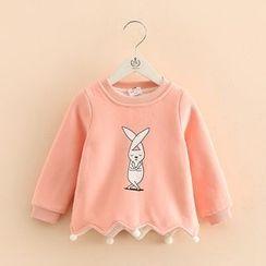 貝殼童裝 - 小童小兔印花套衫