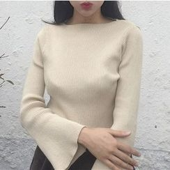 MATO - Bell-Sleeve Knit Top