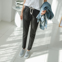 JUSTONE - Drawstring-Waist Tapered Pants