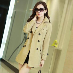 AiSun - Double-Breasted Trench Coat