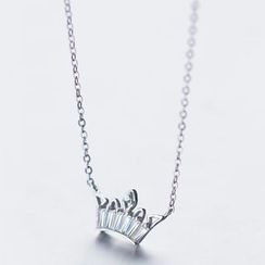 A'ROCH - 925 Sterling Silver Crown Necklace