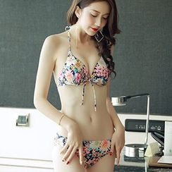 Little Dolphin - Set: Floral Bikini + Cover