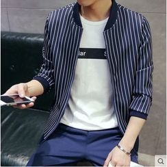 Fisen - Stripe Baseball Jacket
