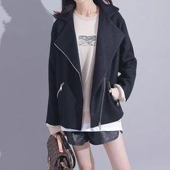 Sonne - 寬鬆毛呢短外套