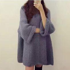 MATO - Plain Chunky Sweater Dress