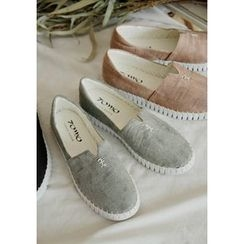 GOROKE - Stitched Faux-Leather Slip-Ons
