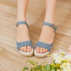 Pangmama - Woven Wedge Sandals