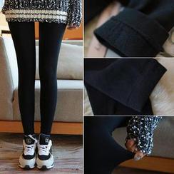 WITH IPUN - Brushed-Fleece Leggings